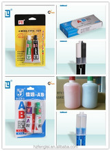 Epoxy adhesive with fast curing two-component and high strength and stick force used in metal and plastic