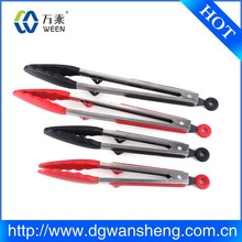 factory price Stainless Steel Silicone Kitchen Food tong/ bbq tong