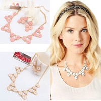 JY3106 Imitation crystal stone chain necklace jewellery wholesale