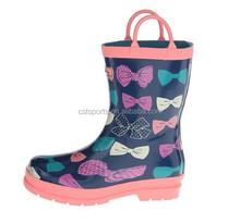 Bow Girl handle Kids Wellingtons - pink colorful RBC010