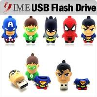 Hot Usb Pen Drive America Captain Superman Spiderman Batman Green Lantern Cartoon USB Flash Drive 4G 8gb 16g 32g Pendrive U Disk