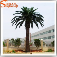 Plastic fake metal palm tree for sale large artificial decorative date palm tree tropical garden plants wholesale