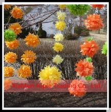 6'' Hanging Tissue Paper Pom Poms flower Party Garland Decoration