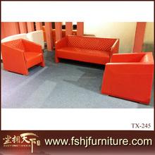 Luxury classic European sofa set italy design classical white genuine leather sofa set TX-245