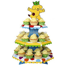 Paper Cake rack/special paper cake stands/custom corrugated paper material 3 tiers cardboard cake display rack for advertising