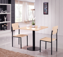 E0731 sample dining table and 2 chair/ modern dining room table and chair /dining room table wood