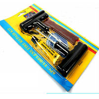 Emergency Car Van Motorcycle Tubeless Tyre Puncture Repair Kit Tool 3 Strip