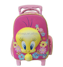 attractive & Cute EVA 3D trolley school bag for children
