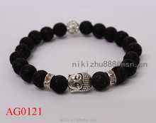 Alibaba wholesale high quality lave stone bead bracelet for men