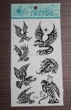 2015 eco-friendly hot sale high quality beauty eagle tattoo designs art
