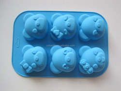 Little Piggy Shaped Cake Mould Silicone Mould FDA LFGB Silicone Baking Mould