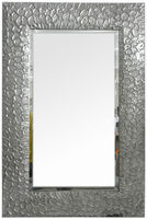 Silver frame home mirror,Metal Material and Folk Art Style metal wall decor