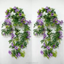 Factory direct artificial silk flower purple gerbera wall hanging bush artificial flower for wall decoration