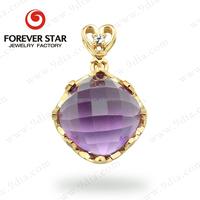 Guangzhou Jewellery Wholesale 10*10mm Cushion Shape Jewellery 10K Gold jewellery Making Supplies