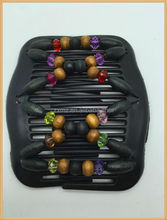 top sale women hair combs ,wood beads decorationed stretchy hair combs