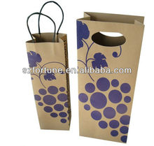 kraft wine bag with twisted handle
