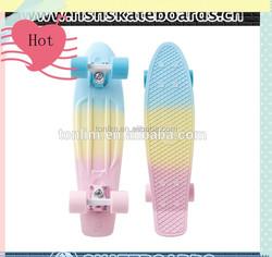 Professional Leading Manufacturer New Design fish marble 22'' skateboard complete
