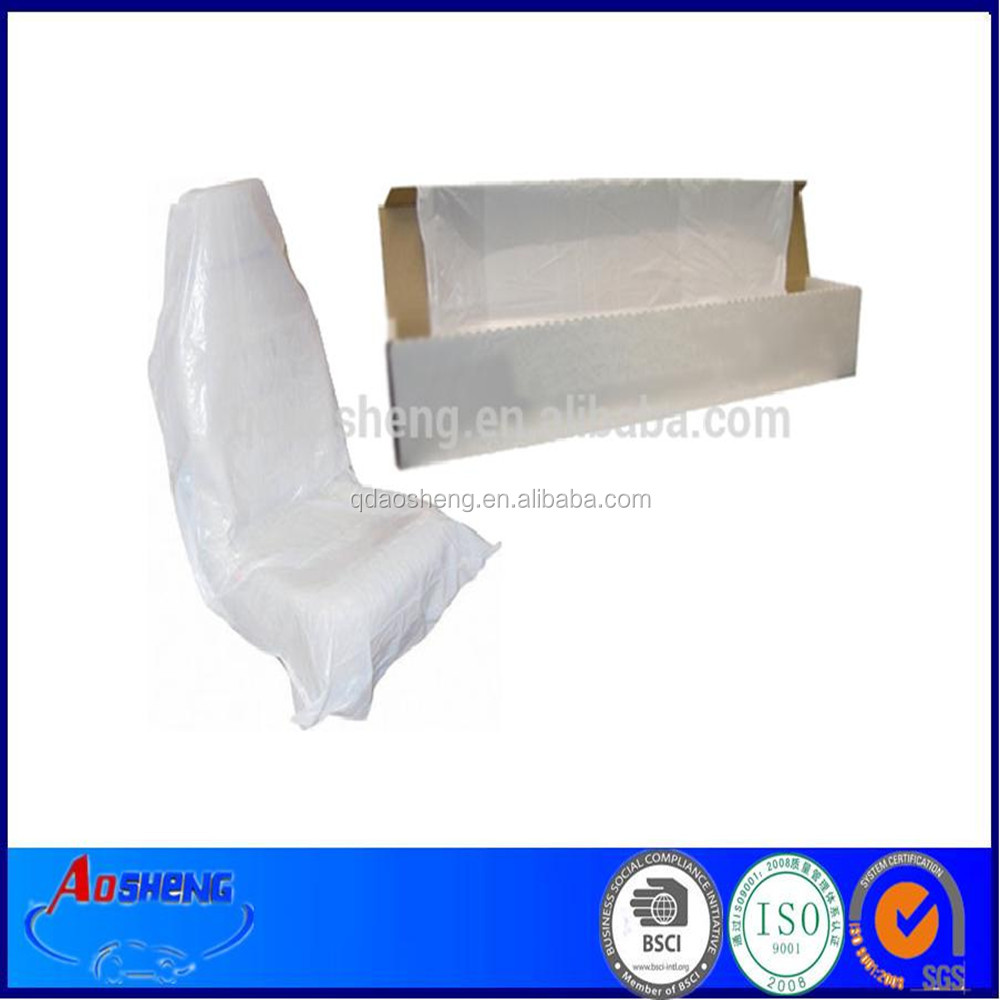 Disposable Car Maintenance Plastic Car Seat Cover