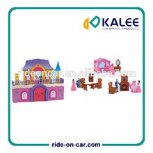 Caliente! Castillo de plástico mini casa villa de juguete de plástico de juguete juguetes de la casa