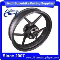FTWKA001 Motorcycle Alloy Wheel Rim For ZX10R ZX 10R 2004 2005 Z1000 SX 2009-2011 ER6N Z750 2009-2012 Black