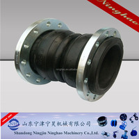 Absorb the axial and horizontal displacement flexible pipe rubber joint