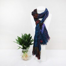 Wrinkle stripe Color block 100%viscose scarves shawls