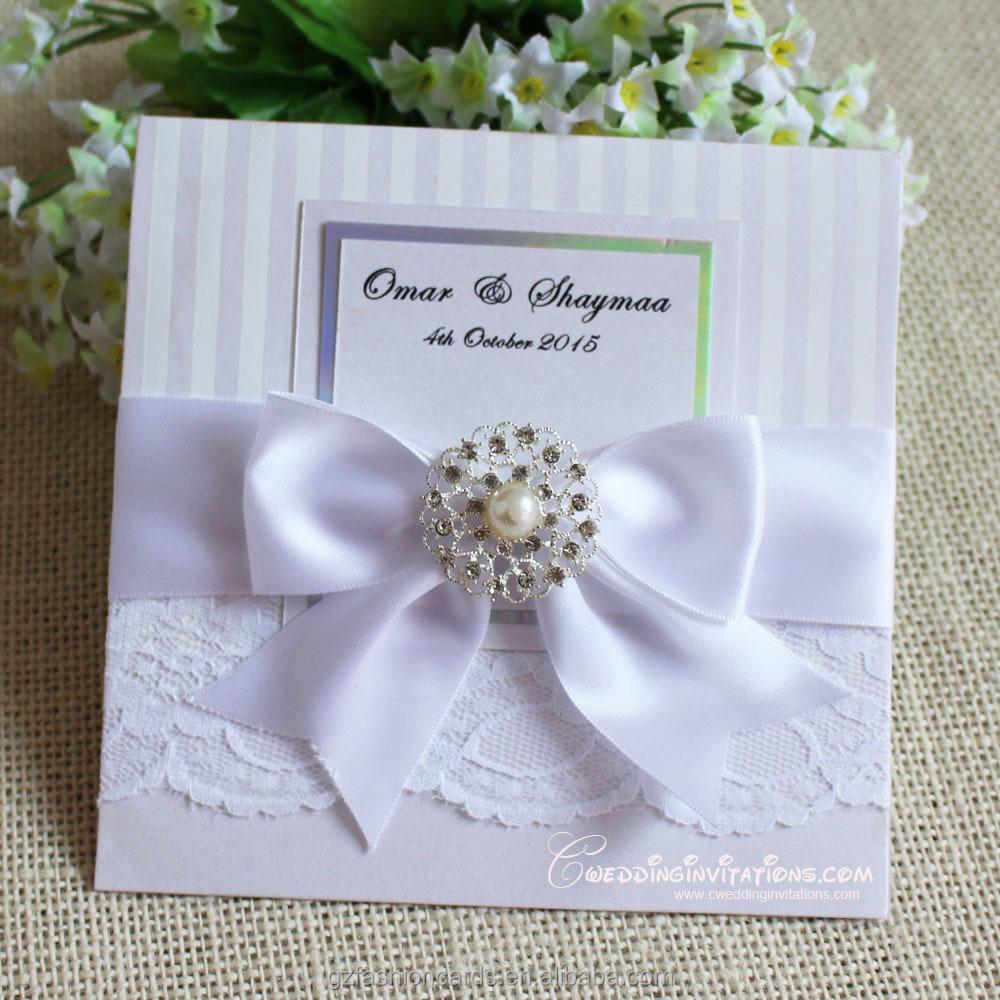 2015 Luxury Wedding Invitations Card Brooch Wedding Invitations Card Lace