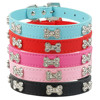 Pet Collar with Rhinestone Lovely Bones Crystal Puppy Gift Collar
