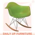 rar eames cadeira lazer cadeira abs de madeira cadeira de balanço cadeira de balanço varanda ao ar livre plástico de madeira