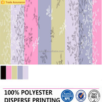 100% polyester blackout colorful curtains and bedding fabric