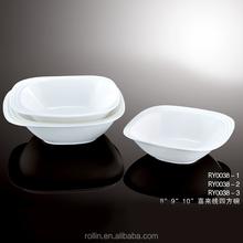 Cerâmica barato louça quadrada italiana em branco Bowls