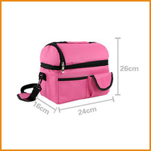 600D polyester promotional low price cooler bag lunch bag
