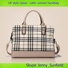 uk style fashion shoulder bag handbag classic lattic woman bag brand