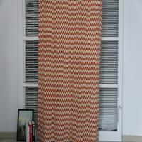Luxury modern wave pattern kid's bedroom printed window curtain drapery