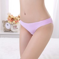 Soft Nylon Women Underwear Seamless Lady Briefs Lovely Transparent Lace Panty Hot Images Women Sexy Bra Underwear