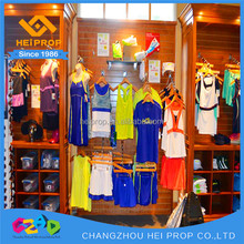 Wholesale wood clothes display shelf and rack