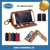 Remax brand bag style with card slot wallet leather case for iphone 6 plus 5.5 inch