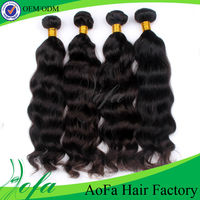 Unprocessed natur vital hair colour hot sale 100% human mongolian wavy hair