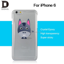 For iPhone 6 slim thin clear PU gel case with custom designs