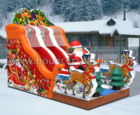 2015 New design inflatable Chrismas Santa Claus Slide, Giant Father Christmas, party rental inflatables for sale in China