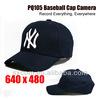 Remote Control Special Features and CMOS Sensor hidden cctv camera, Baseball Cap Camera