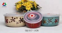 Hot sale ceramic bowl with lid fresh bowl for cheap bulk