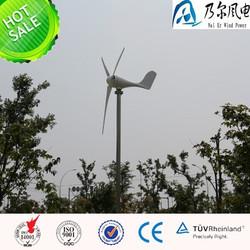 permanent magnet type 200w 12v DC wind generator+wind solar hybrid controller LED model