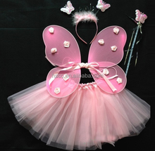 Hot Party supplies pink fairy butterfly wings dance dresses for party
