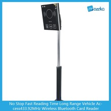 No Stop Fast Reading Time Long Range Vehicle Access433.92MHz Wireless Bluetooth Card Reader