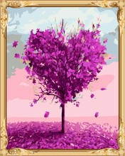 GX74560 coloring with numbers abstract heart shape tree canvas oil painting by numbers kits for bedroom decor