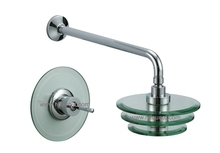 Cold and Hot Glass Bath Shower Faucet Tap(86H16-CHR)