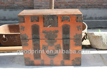 Antique Wood Chest Table Trunk