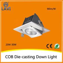 Small order best selling Epistar 20W white cob square led downlights