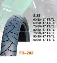 Hot sale high quality china factory for tire 60/80-17 natural motorcycle tyre
